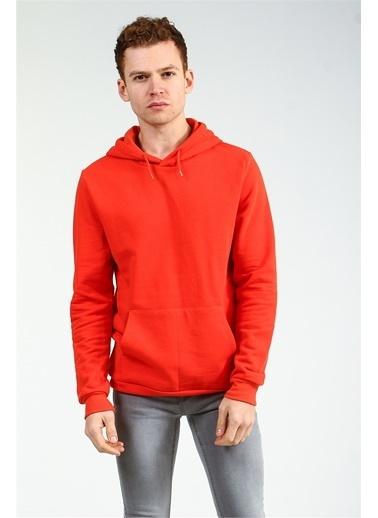 Collezione Oranj Kapişonlu Önü Cepli Uzun Kollu Erkek Sweatshirt Oranj